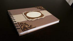 livro de honra com monograma adulto